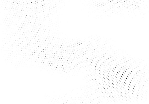 추상 하프톤 점선된 배경입니다. 점과 원이 있는 흑백 패턴입니다. 포스터, 명함, 엽서, 인테리어 디자인, 스티커를 위한 벡터 현대적인 미래 질감.