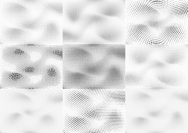 Abstract halftone dotted grunge pattern texture. retro comic pop background. vector modern grunge background for posters, sites, business cards, postcards, interior design.