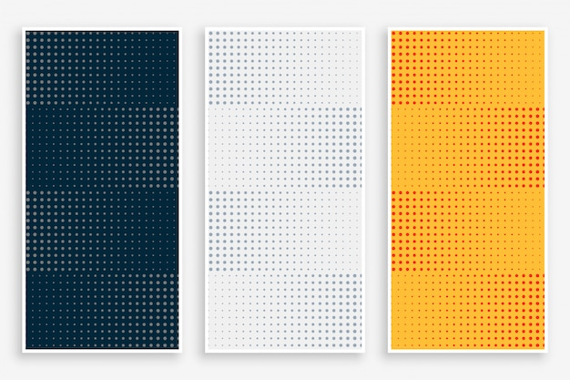 Abstract halftone empty banners set