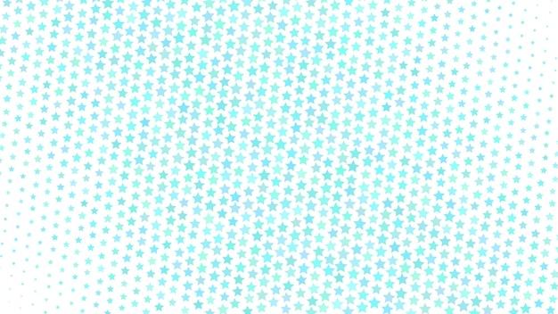 小さな星の抽象的なハーフトーングラデーションの背景、白地に水色