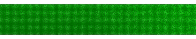Abstract halftone gradient horizontal banner in randomly shades of green colors