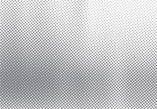 Abstract halftone motion effect with fading dot gradation
