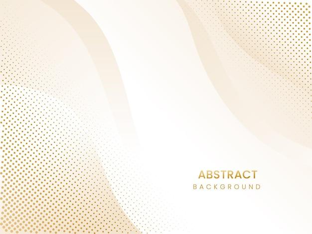 抽象的なハーフトーンまたは点線の曲線の背景。