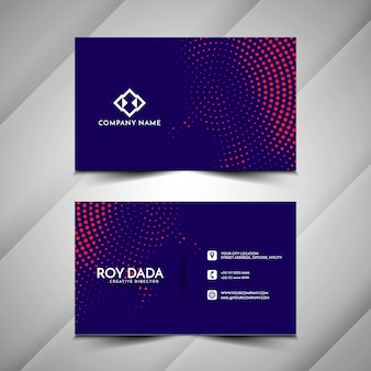 Abstract halftone style business card design