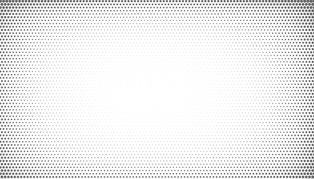 Abstract halftone with vignette effect style