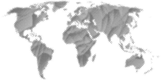 Abstract halftone world map.