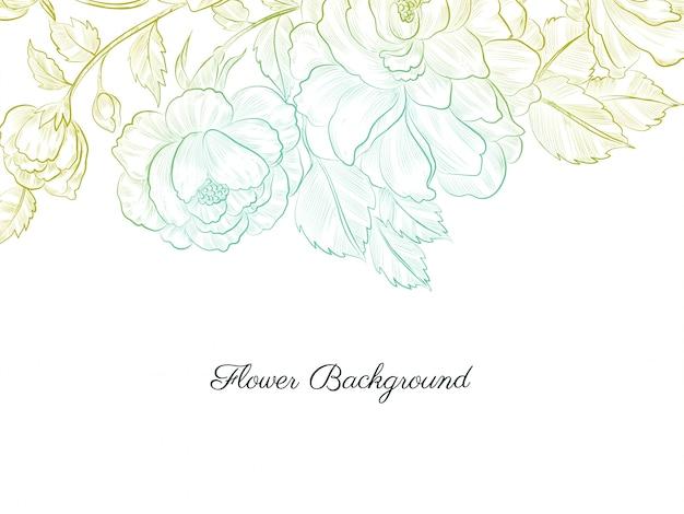 抽象的な手描き花ソフトカラフル