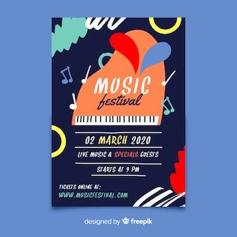 Аннотация рисованной музыкальный фестиваль плакат
