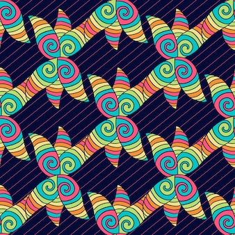 Abstract hand-drawn pattern. colorful hippie background. vector coloring texture.