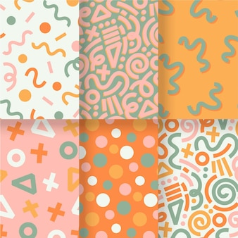 Abstract hand drawn pattern pack template