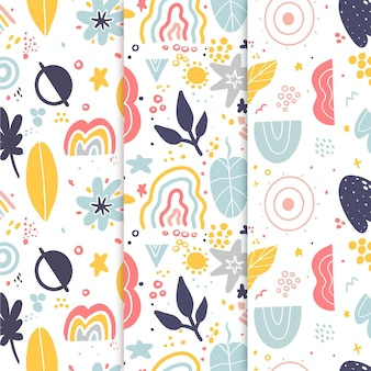 Abstract hand drawn pattern pack