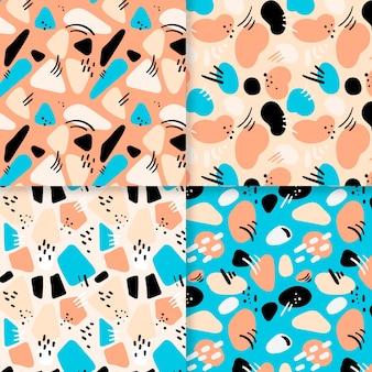 Abstract hand drawn pattern set