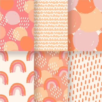 Abstract hand drawn patterns template