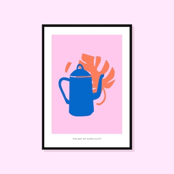 Abstract hand drawn poster perfect for wall art collection
