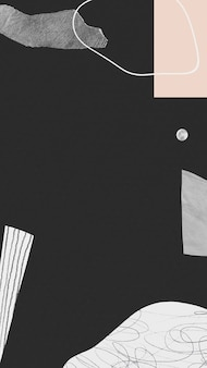 抽象的な手描きの落書きストロークとテクスチャ背景携帯電話の壁紙