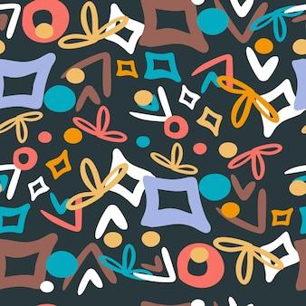 추상 손으로 그려진된 완벽 한 패턴, 유행 패턴 디자인