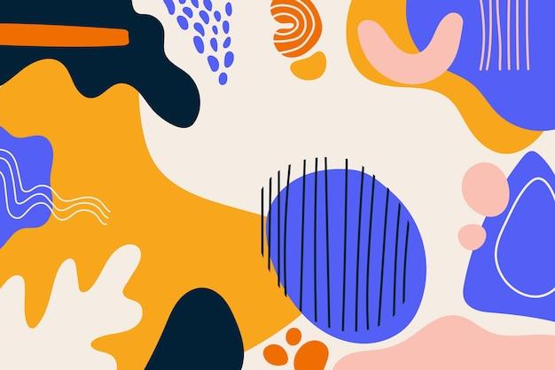 抽象的な手描きの形の背景