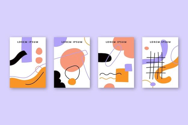 Абстрактные рисованной формы обложки коллекции