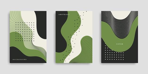 抽象的な手描きの形カバーセット