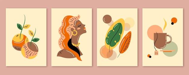 Абстрактные рисованной формы охватывает коллекцию