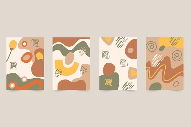 抽象的な手描きの形はコレクションをカバーしています