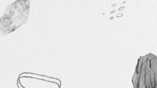 抽象的な手描きのストロークとテクスチャ背景ベクトル