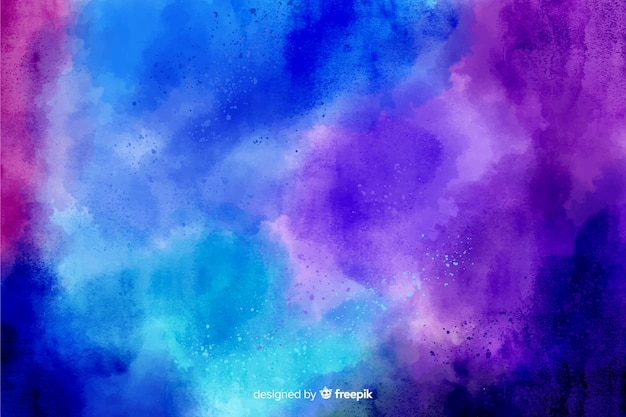 Abstract hand painted background with cool colors