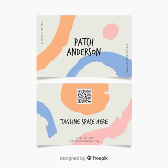 Abstract hand painted business card company