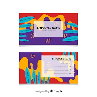Abstract hand painted business card
