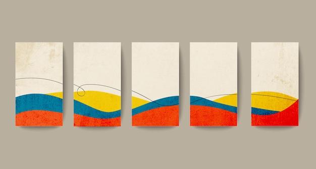 Абстрактный раскрашенный вручную минималистичный стиль фона для шаблона фона историй в социальных сетях