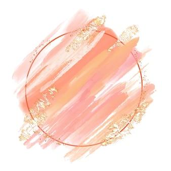 抽象的な手描きの水彩フレームの背景デザイン