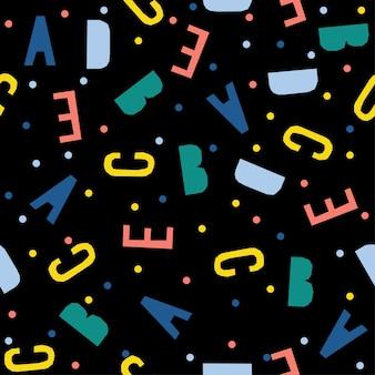 Абстрактный бесшовный фон фон письмо ручной работы. детские обои ручной работы для дизайнерских открыток, обоев, детских подгузников, праздничной упаковочной бумаги, текстильной ткани, принтов на сумках, подгузников, футболок и т. д.