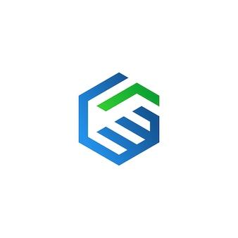 抽象的なハンドシェイクロゴ