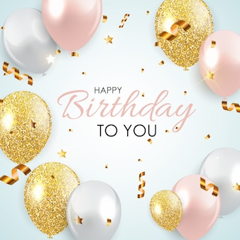 Abstract happy birthday card template  illustration