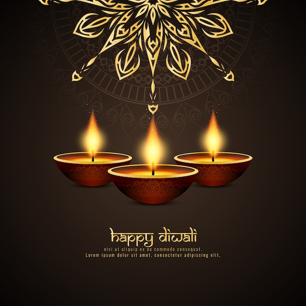 Free Abstract Happy Diwali Artistic Background Svg Dxf Eps