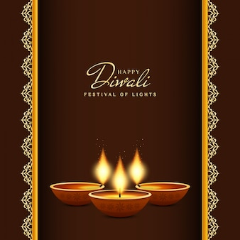Abstract happy diwali artistic