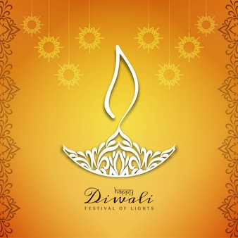 Abstract Happy Diwali beautiful background design