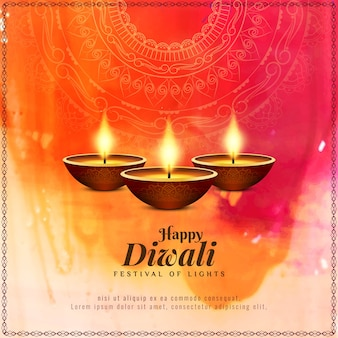 Abstract Happy Diwali beautiful religious background