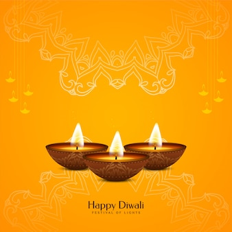 Abstract happy diwali elegant religious background