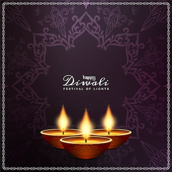 Abstract happy diwali festival decorative