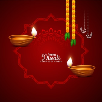 Abstract happy diwali festival elegant background design vector