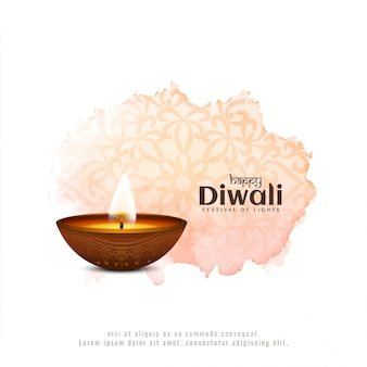 Abstract happy diwali festival watercolor background