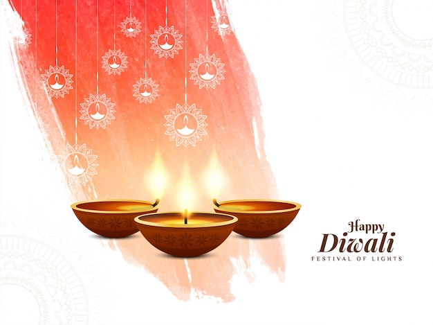 Abstract happy diwali indian festival background