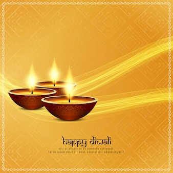 Abstract happy diwali religious wavy background