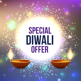 Abstract happy diwali sale offer background
