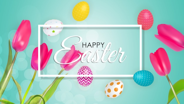 Abstract happy easter template holiday background  illustration