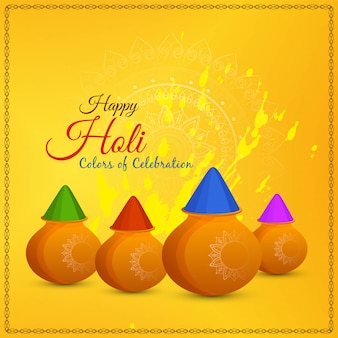 Abstract happy holi festival greeting vector background