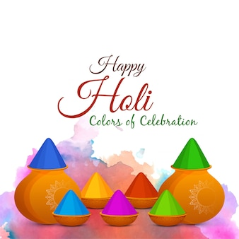 抽象的なハッピーホーリーインドのお祭りのベクトルの背景