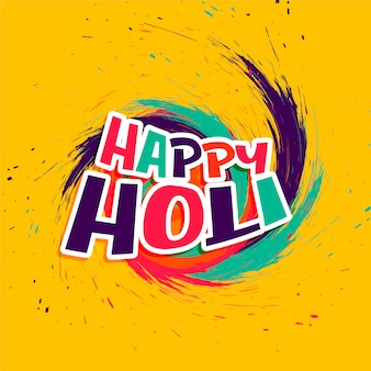Abstract happy holi wishes card in colorful style
