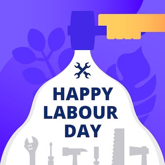 Abstract happy labour day background
